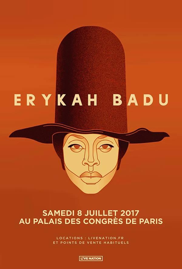 Erykah Badu Palais des Congrès